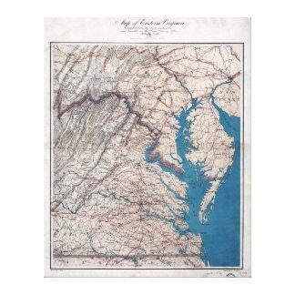 InbördeskrigErakarta 1862 av östliga Virgina Canvastryck