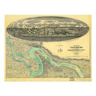 InbördeskrigErakarta av Vicksburg Mississippi 1863 Fototryck