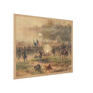 Inbördeskrigstrid av det Antietam Sharpsburg Canvastryck
