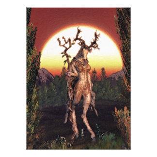 Incarnations av vildmarken mig - 'Druidess'en Fototryck