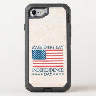 Independence day 4th Retro Juli OtterBox Defender iPhone 7 Skal