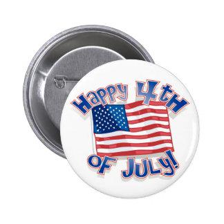 Independence day Juli 4th USA United States Standard Knapp Rund 5.7 Cm