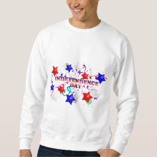 Independence daykonfettiar och stjärnatröja långärmad tröja