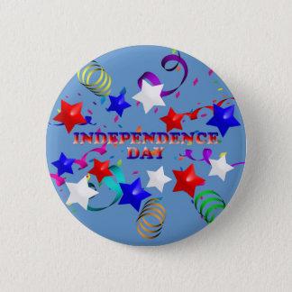 Independence daystjärnor och konfettiar knäppas standard knapp rund 5.7 cm