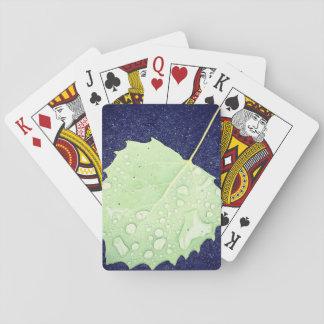 Indexet för kortet för det daggiga löv vänder mot spel kort