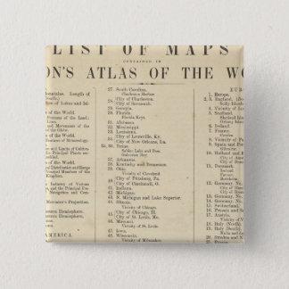 Indexkartbok av världen standard kanpp fyrkantig 5.1 cm