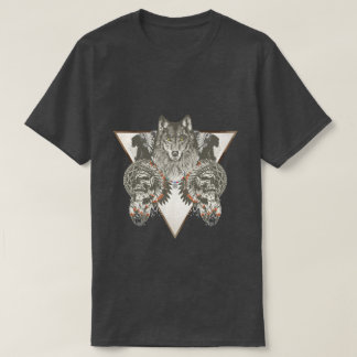 Indian varg med skalleT-tröja Tshirts