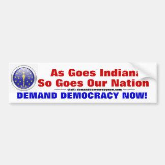 Indiana begäran för demokrati bildekal