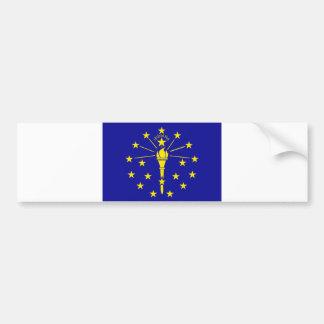 Indiana flagga bildekal