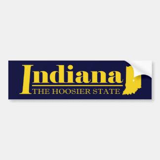 Indiana guld bildekal