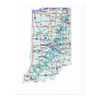 Indiana Interstate kartavykort Vykort