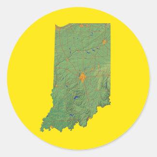 Indiana kartaklistermärke runt klistermärke