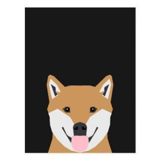 Indiana - Shiba Inu hundillustration för hund Vykort