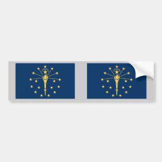 Indiana statlig flagga bildekal