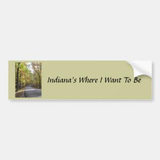 Indiana var jag önskar att vara bildekalet bildekal