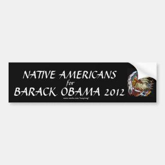 Indianer för Barack Obama 2012 Bildekal