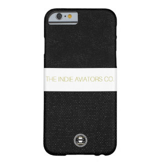 """Indie flygare Co. """"Spräcklig"""" Iphone 6 fodralsvart Barely There iPhone 6 Fodral"""