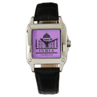 INDIEN beställnings- monogram- & färgklockor Armbandsur