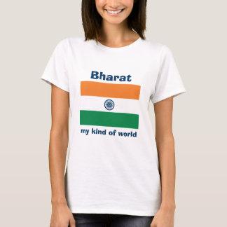 Indien flagga + Karta + TextT-tröja Tshirts