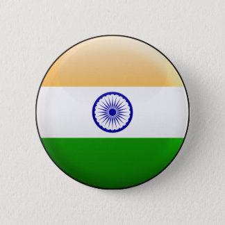 Indien flagga standard knapp rund 5.7 cm