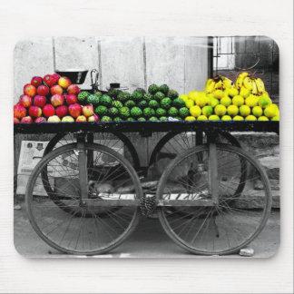 Indien fruktvagn musmatta