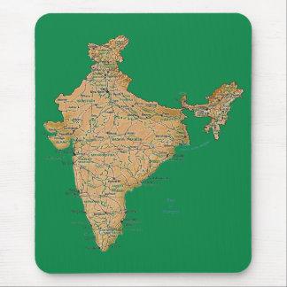 Indien karta Mousepad Musmatta