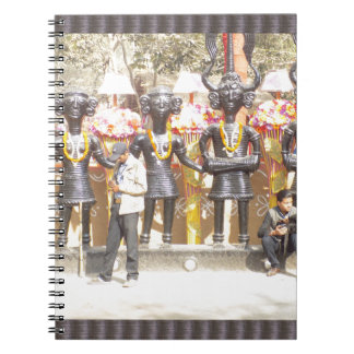 Indien kulturell showstaty av musikerkonstnärer anteckningsbok