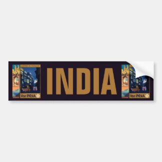 Indien reser affischcollagebildekal bildekal