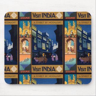 Indien reser affischcollagemousepad musmatta