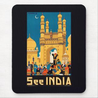 Indien reser affischmousepad musmatta