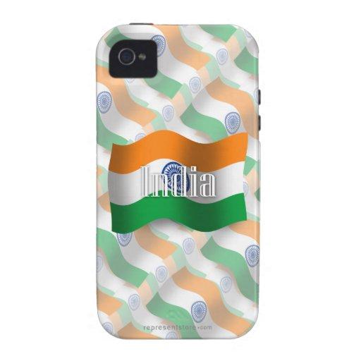 Indien som vinkar flagga