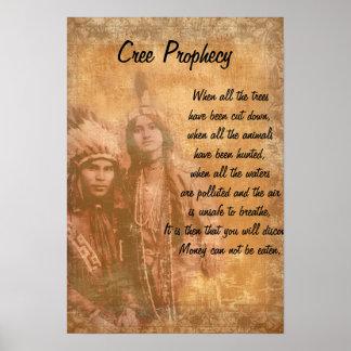 Indier för CreeProphecyindian kopplar ihop Poster