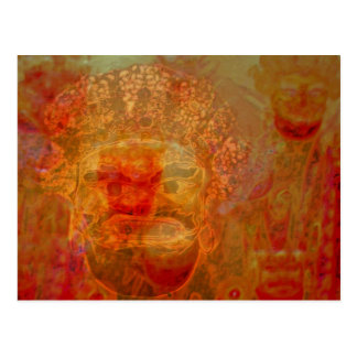 indier maskerar vykort