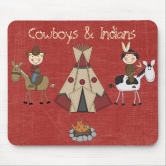 Indier Mousepad för Amercian Cowboyindian Musmatta