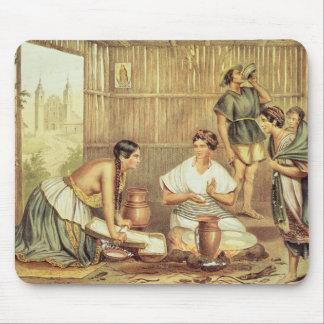 Indier som förbereder Tortillas Musmatta