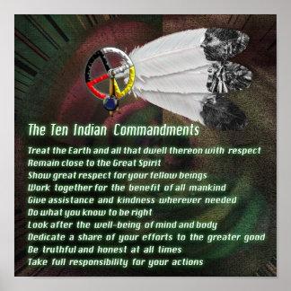 Indier tio Commandments Poster