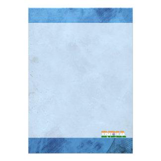 Indiernamn och flagga på den kalla väggen 12,7 x 17,8 cm inbjudningskort