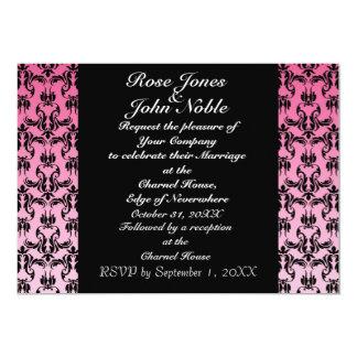 Indigoblå dropp (rosa) som gifta sig inbjudan