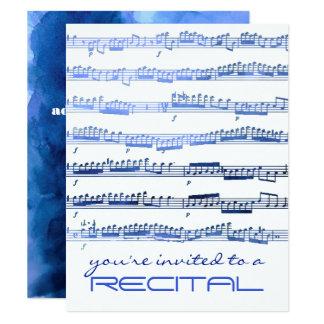 indigoblå inbjudan för blåttmusikhögläsning