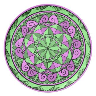 Indigoblå Mandala Tallrik