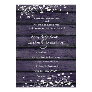 Indigoblå Wood bröllopinbjudan 12,7 X 17,8 Cm Inbjudningskort