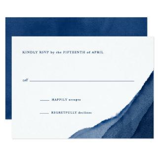 Indigoblått blåttvattenfärgbröllop OSA 8,9 X 12,7 Cm Inbjudningskort
