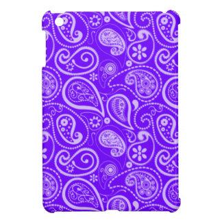 Indigoblått purpurfärgade Paisley; Blommigt iPad Mini Mobil Skal