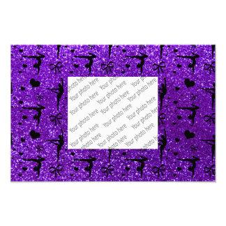 Indigoblått purpurfärgat gymnastikglittermönster fototryck