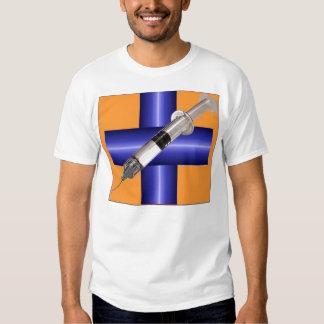 indigoblått sjukhus t-shirt
