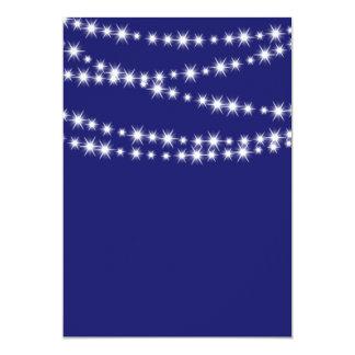 Indigoblått tomt glimtljus 12,7 x 17,8 cm inbjudningskort
