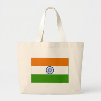 Indisk flagga tote bags