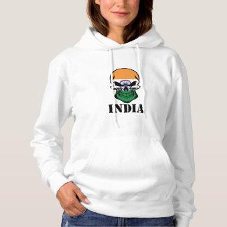 Indisk flaggaskalle Indien Tee Shirts