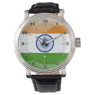 Indisk glansig flagga armbandsur