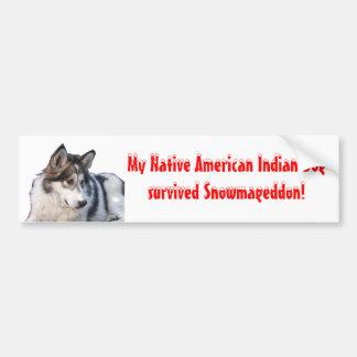 Indisk hund för Snowmageddon indian Bildekal